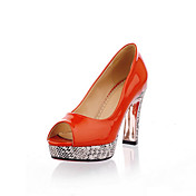 Patent Leather Chunky Heel Peep Toe / Pumps With Animal Print Party / Evening Shoes (More Colors Available)