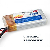 Geheimnis 1250mAh 2S1P LiPoly 15c 7.4V Batterie (my12152)