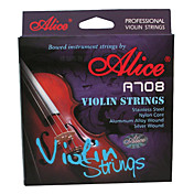 Alice - (A708) Violin Strings/E-1st Steel Core,A-2nd D-3rd G-4th Nylon Core