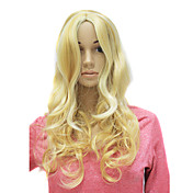 Capless Long Synthetic Charming Blonde Curly Wig