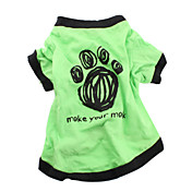 Make Your Mark Cotton T-shirt for Dogs (Green, Multiple Sizes Available)