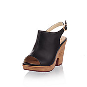 Leatherette  Chunky Heel Sandals / Peep Toe With Buckle Party / Evening Shoes (More Colors Available)