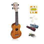 Yadars - Mahogany Soprano Ukulele with Gig Bag/Pitch Pipe/Picks/Capo