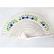 Elegant White Bamboo Hand Fan(Set of 2)
