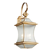 Golden Metal  Wall Light with 3 Lights
