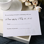 Personalize Wedding Response Cards - Simple Designed (Set of 50)
