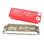 huang - (103-b) Blues Harp sliver gaita 10 holes/20 tons / pente de alumnio