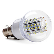 B22 66-3528 SMD 3.5W 430LM 5500-6500K Natural White Light LED Ball Bulb (220-240V)