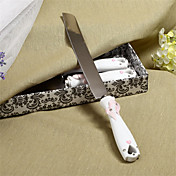 Embracing Hearts Design Resin Handle Wedding Cake Knife