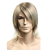 Capless Synthetic Medium Long Straight Men's Wigs