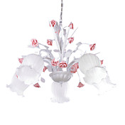 floral taklampe med 5 lys