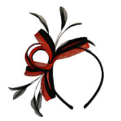 Double Color Chic Head Hoop With Feather (More Colors Available)