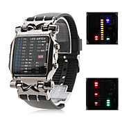 Men's Personality Rubber Digital LED Wrist Watch (Black)