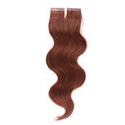 100% dei capelli indiani remy 16 pollici a nastro ondulato Italia (4x0.8cm) capelli extenions