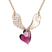 Austrian Crystal With Real Platinum Plated Anti-Allergy Ladies Necklace Sweetheart Eros (More Colors)