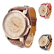 Fashionable Unisex's PU Analog Quartz Wrist Watch (Assorted Colors)
