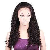 Lace Front 100% Indian Remy Hair Long Wavy Hair Wig
