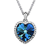 27mm x 17mm Blue Crystal Hight Quality Alloy Pendant