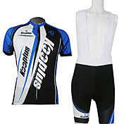 Kooplus-Men's BIB Short Sleeve Cycling Suits (Blue and Black)
