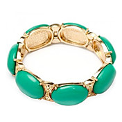 Emerald Gold Alloy Ladies' Fashion Bracelet (More Colors)