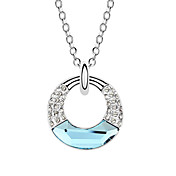 Austrian Crystal With Real Platinum Plated Anti-Allergy Ladies Necklace Galaxy Of Love (More Colors)
