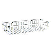 Contemporary Rectangle Chrome Finish Soap Basket