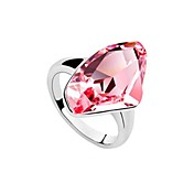 Marvelous Platinum Plated Crystal Fashion Ring(More Colors)