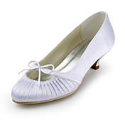 Satin Low Heel Closed Toe With Ruffles Wedding Shoes (More Colors)