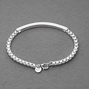Amazing Silver Plated Box Chain ID Unisex Bracelet