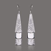 Gorgeous Silver Plate Three Board Earrings