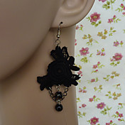 Black Rose Lace Gothic Lolita Earrings