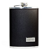Personalized  Black 9-oz  Flask