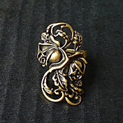 Bronzed Carved Flower Gothic Lolita Ring