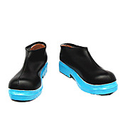 Cosplay Shoes Inspired by Vocaloid-Miku Black Blue Sole Low-cut