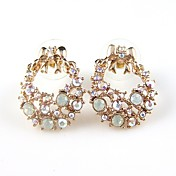 Gorgeous Alloy Crystal Round Fashion Earrings
