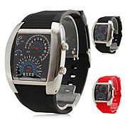 Men's Multi-Functional Style Rubber Digital LED Wrist Watch (Assorted Colors)
