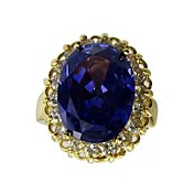 Beautiful Big Royal Oval Cubic Zirconia Fashion Ring(More Colors)