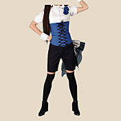 cosplay kostuum genspireerd door zwarte butler Ciel Phantomhive blauwe ver. 