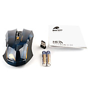 High-Performance Wireless USB Optical Gaming Mouse (2500DPI, Black)