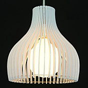 40W Modern Acrylic Pendant Light with 1 Light White