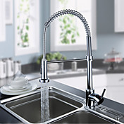 Contemporary Spring Kitchen Faucet - Chrome Finish