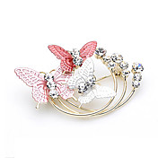 Gorgeous Alloy With Rhinestones Butterfly Brooch