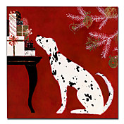 Printed Animal Dog Canvas Art with Stretched Frame