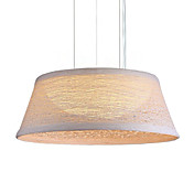 Comtemporary Pendant Lights with 2 Lights in Hemp Shade