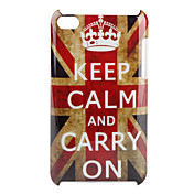 Keep Calm and carry On UK Flag mnster hrd cover til iPod Touch 4