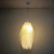 60W 1 - Light Artistic Acrylic Pendant Light in Warm Color