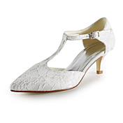 Lace Kitten Heel Pointy Toe/ Sandals Wedding Shoes(More Colors)