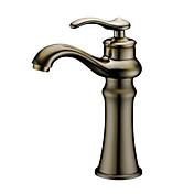 Single Handle Bathroom Sink Faucet(Antique Bronze Finish)