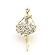 Elegant Alloy With Rhinestones Ladies' Brooch