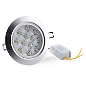 12W 1080-1200LM 6000-6500K Natural White Light LED Ceiling Bulb (85-265V)